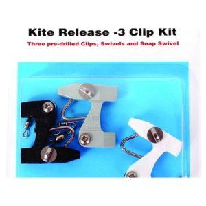 Black Marine Kite Release Clips 3pk