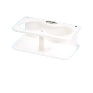 Deep Blue Double Drink Holder White
