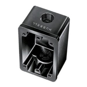Hubbell Weather Proof Box Black HBL6080OS