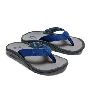 Olukai Ohana Boys Sandals Deepest Depths Charcoal Pair
