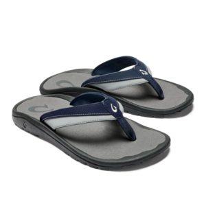 Olukai Ohana Koi Sandals Trench Blue Poi Pair