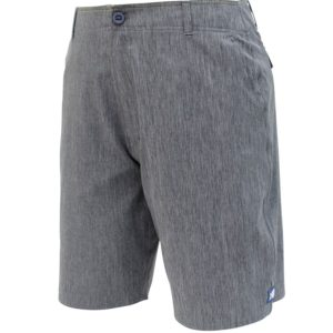 Aftco Cloudburst Fishing Shorts 10in Charcoal Heather Front