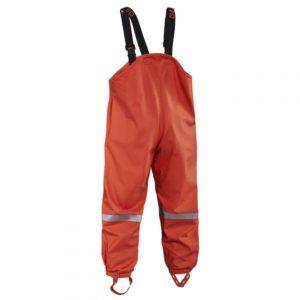 Grundens Child Zenith 294 Orange Bib Back