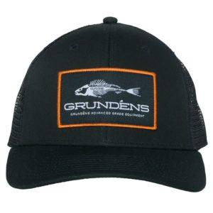 Grundens Gage Trucker Hat Black Front