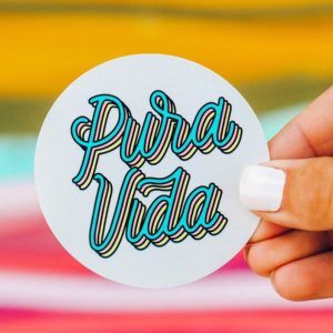 Puravida Logo Sticker Active
