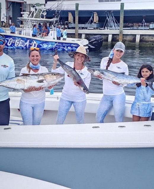 Ladies Fish Off Big Dog