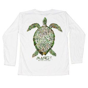 Mang Toddler Grassy Turtle LS White Back