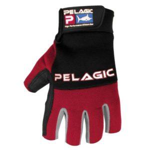 Pelagic Battle Gloves Red Front
