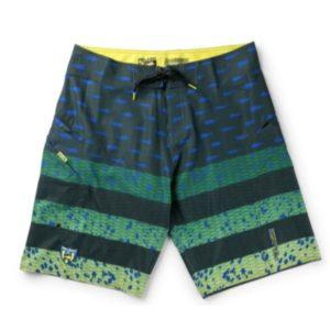 Pelagic Youth Sharkskin Americamo Fishing Shorts Green Front