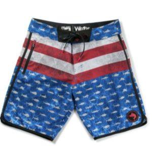 Pelagic Youth Wedge Boardshorts Americamo Front