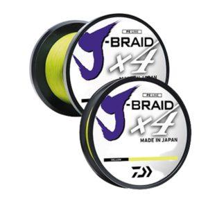 Daiwa J-Braid x4 Bulk Spool Yellow