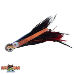 Flying Fish Rigged Lure Feather Red Black Small