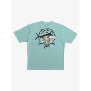 Quiksilver Waterman Stay Tuna T-Shirt Beach Glass Back