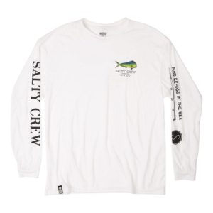 Salty Crew Angry Bull Long Sleeve White Front Web