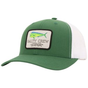 Salty Crew Mahi Mount Retro Trucker Hat Green White