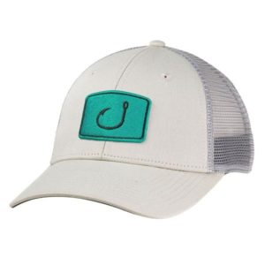 Avid Iconic Fishing Trucker Hat Stone