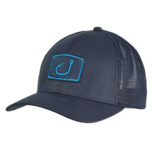 Avid Iconic Stretch Mesh Trucker Hat Black Cyan