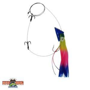 Big Nic Rigged Mackahoos Blue Head Rainbow Skirt
