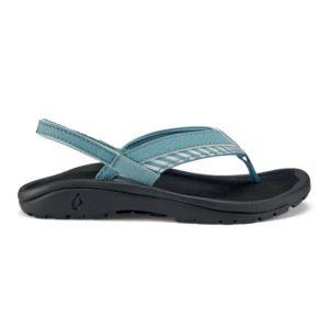 Olukai Ohana Koa Girls Sandals Dusk Stripe Side Heel