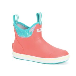 Xtratuf Womens 6in Ankle Deck Boot Coral Coho Side