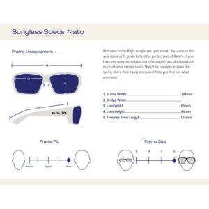 Bajio Nato Sunglasses Size Guide