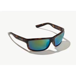 Bajio Nippers Sunglasses Dark Tortoise Green Glass Front Side