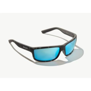 Bajio Nippers Sunglasses Squall Tortoise Blue Glass Front Side