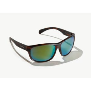 Bajio Scuch Sunglasses Dark Tortoise Green Poly Front Side