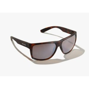 Bajio Sunglasses Boneville Dark Tort Matte Silver Glass Front Side