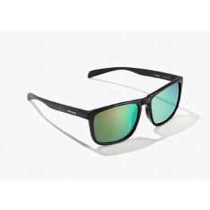 Bajio Sunglasses Calda Black Matte Green Glass Front Side