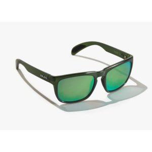 Bajio Swash Sunglasses Cerveza Gloss Green Glass Front Side