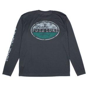 Pure Lure Oval Tuna Long Sleeve Performance Shirt Carbon Back