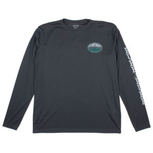 Pure Lure Oval Tuna Long Sleeve Performance Shirt Carbon Front