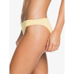 Roxy Beach Classics Moderate Bikini Bottoms Banana Cream Side