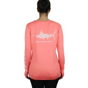 Aftco Jigfish Long Sleeve Performance Coral Back