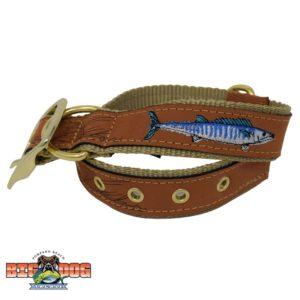 Dog Collar Leather Wahoo Sand