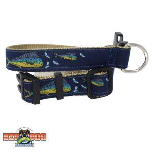 Dog Collar Nylon Dolphin Flying Fish