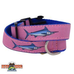 Dog Collar Nylon Marlin Pink Royal