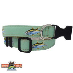 Dog Collar Nylon Tuna Seafoam Sand