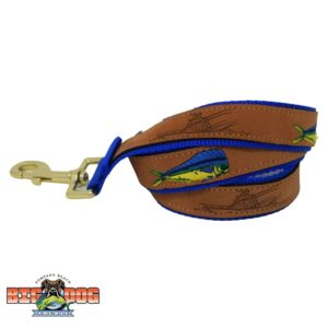 Dog Leash Leather Mahi Royal