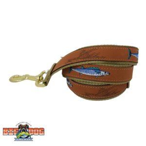 Dog Leash Leather Wahoo Sand