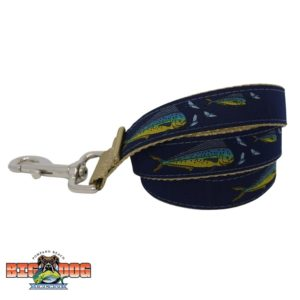 Dog Leash Nylon Flying Fish Navy Sand