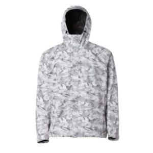 Grundens Charter Gore-Tex Jacket Refraction Camo Glacier Front
