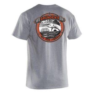 Grundens Classic Billfish T-Shirt Heather Grey Back