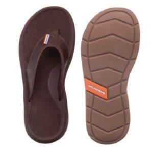 Grundens Deck Boss Captains Leather Sandal Butternut