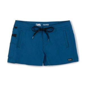 Pelagic Traverse Hybrid Fishing Shorts Smokey Blue Front