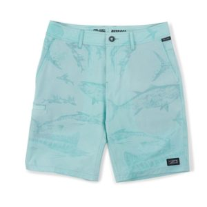 Pelagic Youth Deep Sea Hybrid Gyotaku Shorts Turquoise Pattern
