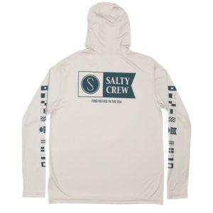 Salty Crew Alpha Hood Long Sleeve Tech Silver Back