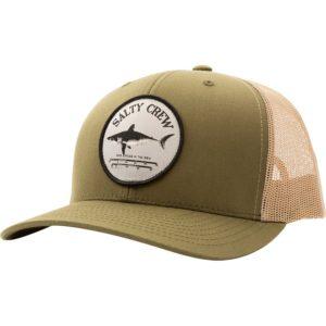 Salty Crew Bruce Retro Trucker Hat Moss Khaki