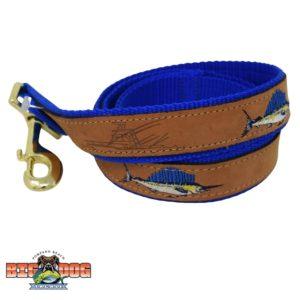 Zep Pro Dog Leash Leather Sailfish Royal